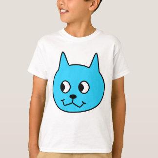 Turquoise Cartoon Cat. T-Shirt