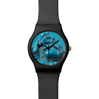 Turquoise Carved Happy Buddha Zen Lucky Yoga Watch