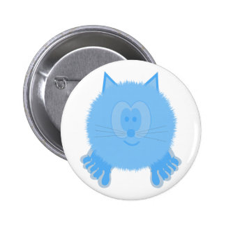 Turquoise Cat Pom Pom Pal Button