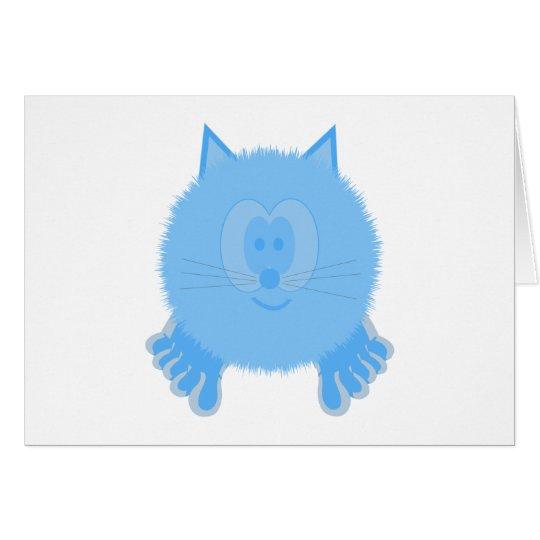 Turquoise Cat Pom Pom Pal Card
