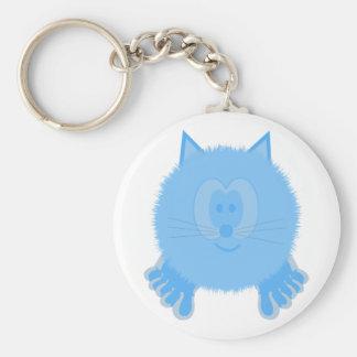 Turquoise Cat Pom Pom Pal Keychain