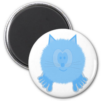 Turquoise Cat Pom Pom Pal Magnet