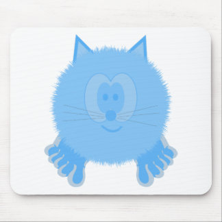Turquoise Cat Pom Pom Pal Mousepad