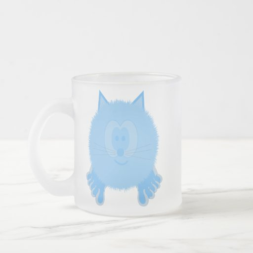 Turquoise Cat Pom Pom Pal Mug