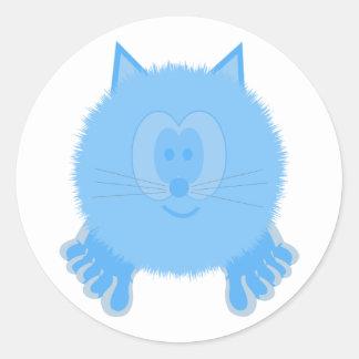 Turquoise Cat Pom Pom Pal Stickers