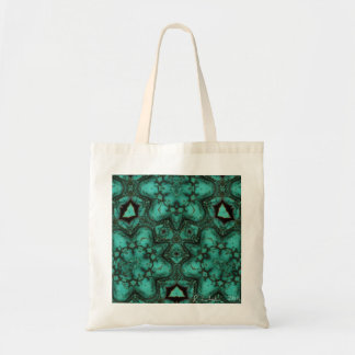 Turquoise celtic knot tote bag