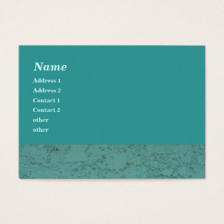 turquoise cement business card