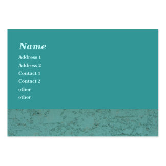 turquoise cement large business card