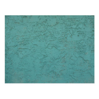 turquoise cement post card