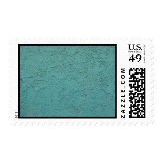 turquoise cement postage stamp