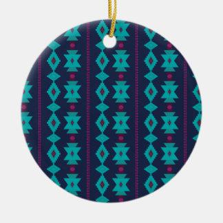 Turquoise Ceramic Ornament