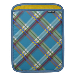 Turquoise Checks iPad Sleeve
