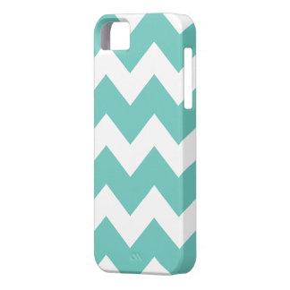 Turquoise Chevron  iPhone 5 Case