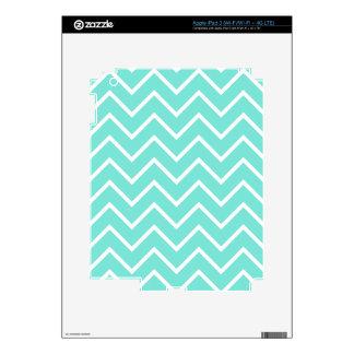 Turquoise Chevron Pattern iPad 3 Skin