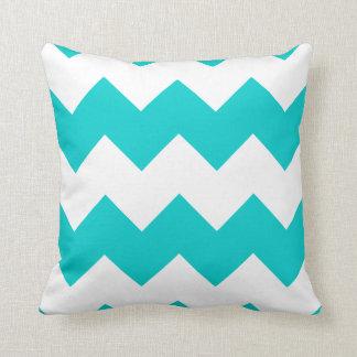 Turquoise Chevron Throw Pillow
