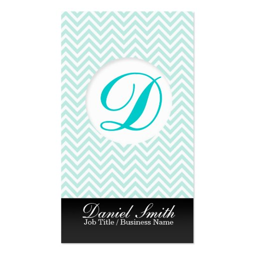 Turquoise chevron with Initial to letter