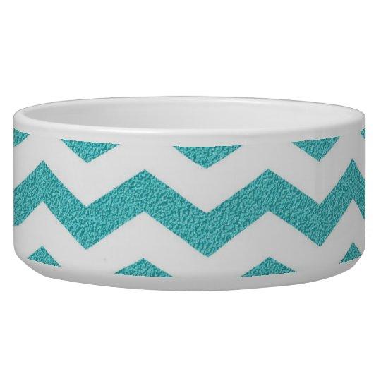 Turquoise chevron zig zag textured zigzag pattern bowl