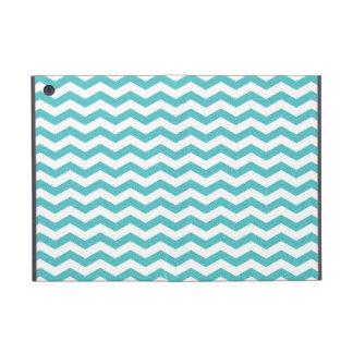 Turquoise chevron zig zag textured zigzag pattern case for iPad mini