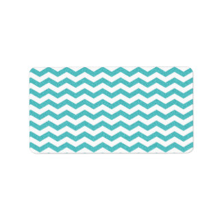 Turquoise chevron zig zag textured zigzag pattern label