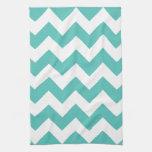 Turquoise Chevron Zigzag  Kitchen Towels