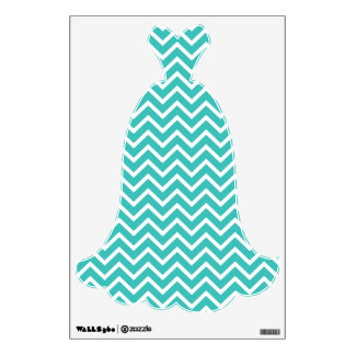 turquoise chevron wall decals amp wall stickers zazzle large chevron wall decal stripes style 2 72 x 53