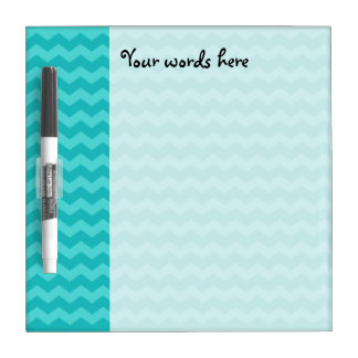 Turquoise chevrons dry erase board