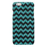 Turquoise Chevrons Glitter Chic Elegant Print Glossy iPhone 6 Case