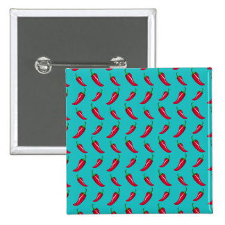 turquoise chili peppers pattern pins