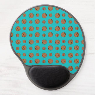 Turquoise chocolate chip cookies pattern gel mouse pad