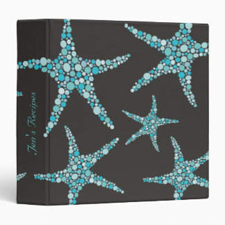 Turquoise Chocolate Starfish Seafood Recipe Binder