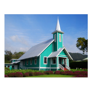 Turquoise Church on the Big Island, Hawaii Postcard