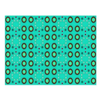 turquoise circles postcard
