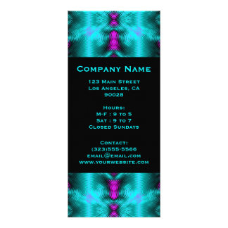 turquoise circles rack card