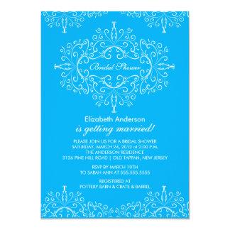 Turquoise Classy Frame Bridal Shower Invitation