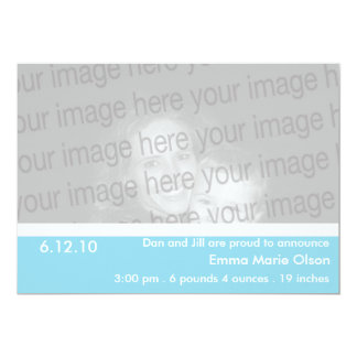 Turquoise Clean & Classic Birth Announcement
