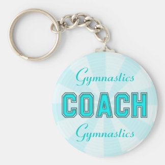 Turquoise Coach Basic Round Button Keychain