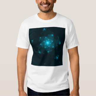 Turquoise Color Abstract Fractal. T Shirt