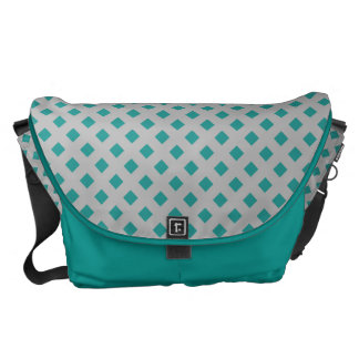Turquoise Colored Shoulder Bag With Tiles Design Courier Bag