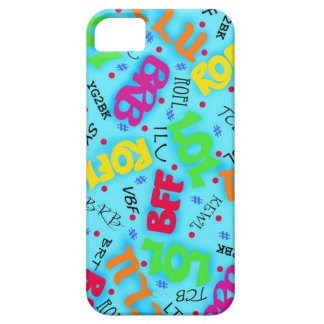 Turquoise Colorful Electronic Texting Art Abbrevia iPhone SE/5/5s Case