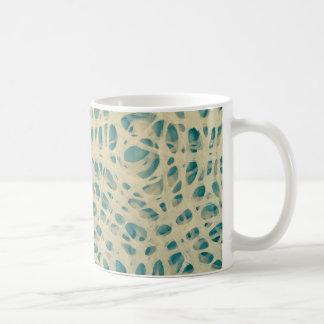 Turquoise concentric circles coffee mug