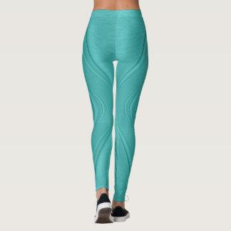 Turquoise Contour Leggings