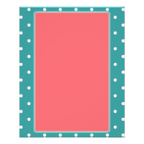 Turquoise, Coral  Polka dots Flyer