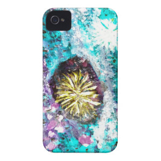 Turquoise coral reef abstract sea bed iPhone 4 case