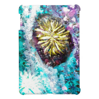 Turquoise coral reef abstract sea bed iPad mini case