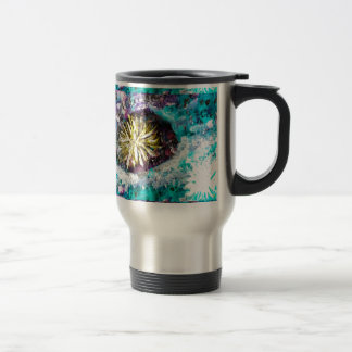 Turquoise coral reef abstract sea bed travel mug