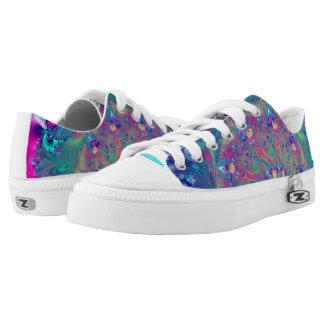 Turquoise Coral Reef Fantasy  Fractal Zipz Sneaker