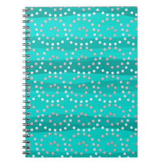 Turquoise & Coral Waves Notebook
