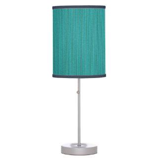 Turquoise Corrugated Cardboard Table Lamp