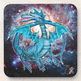 Turquoise Cosmic Dragon Coaster