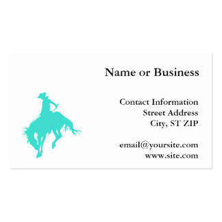 Turquoise Cowboy Double-Sided Standard Business Cards (Pack Of 100)